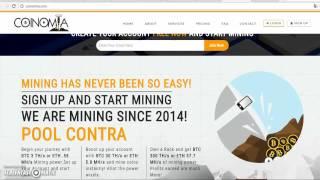 Сoinomia надёжный облачный майнинг Ethereum 2017 │ Как купить mining контракт на Эфириум