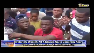 Adekunle Ajasin Uni students protest enters day two