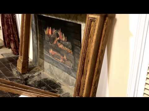 The New Jersey Mantel (Oak with Minwax English Chestnut stain)