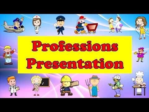 Professions. Профессии. Английский для детей
