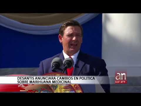 DeSantis anunciará cambios en política sobre Marihuana Medicinal