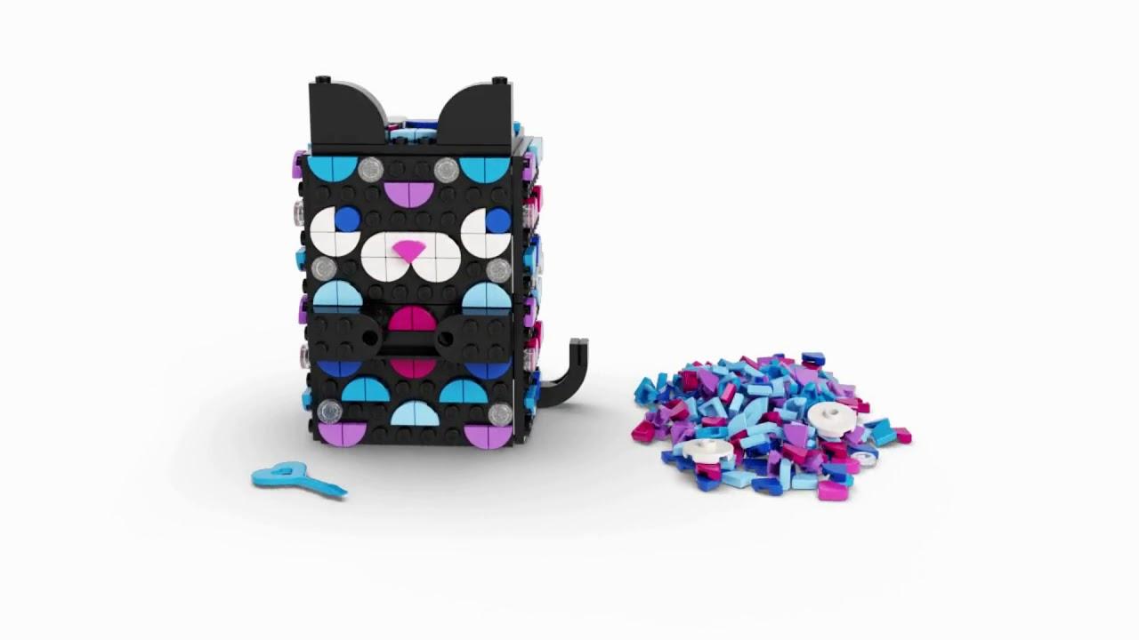 LEGO 20 DOTS Secret Holder Cat Room Décor Ideas Set   Smyths Toys