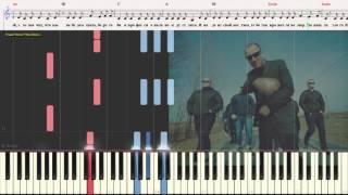 Тает Лёд - Грибы (Ноты, Аккорды, Видеоурок для фортепиано) (piano cover)