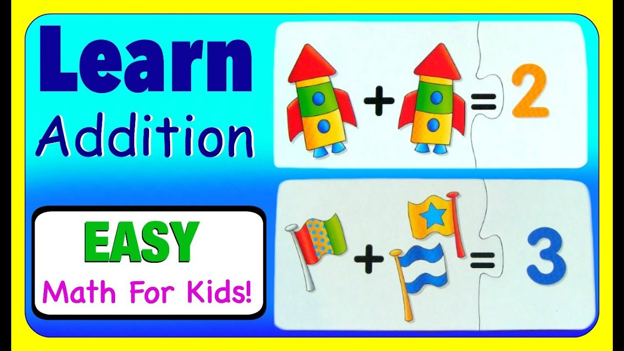 Learn Addition With Math Puzzles! Math Learning Video For Preschool Kids,  Toddlers, & Babies!