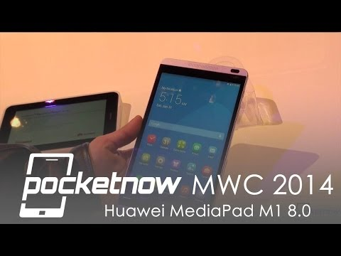 Huawei MediaPad M1 8.0 Hands-on - MWC 2014 | Pocketnow