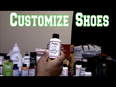 How To Customize Shoes - Supplies Needed!!