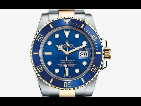 Rolex Submariner Two Tone Blue Dial 116613 LB 2015 Watch Overview HD