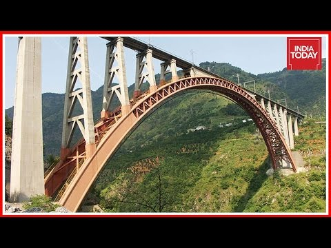 India Today's Report On The Construction Of Tallest Rail Bridge Over River Chenab