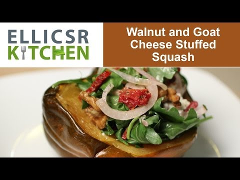 Walnut And Goat Cheese Stuffed Squash