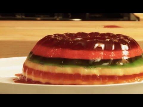 How to Make a Rainbow JellO Mold JellO Recipes Allrecipescom