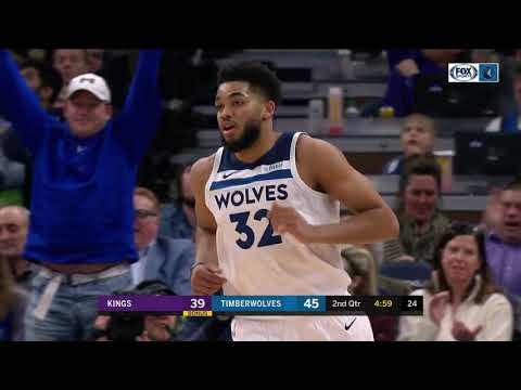 Wolves - Highlights: Towns' 34 points leads Wolves past Kings