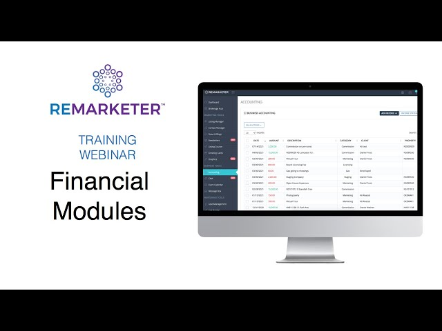 REMARKETER Training - Financial Modules
