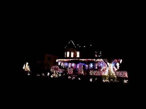 Christmas Light Show House With Christmas Music Orlando Florida