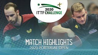 Diogo Carvalho vs Maciej Kolodziejczyk | 2020 ITTF Portugal Open Highlights (FS)