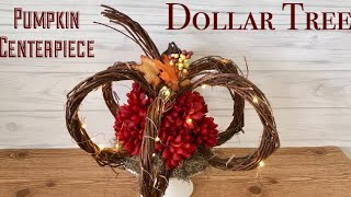 Dollar Tree DIY Rustic Pumpkin Centerpiece