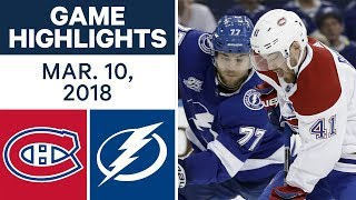 NHL Game Highlights   Canadiens vs. Lightning - Mar. 10, 2018