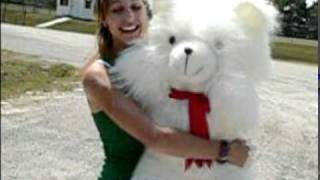 giant size white fuzzy teddy bear is 3 feet tall and made in america at bigplush com