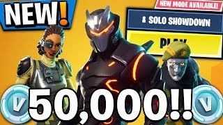 'NOUVEAU' GRATUIT 50.000 V BUCKS?! FORTNITE COMPÉTITIF! (Fortnite Battle Royale Solo Showdown)