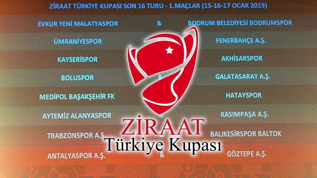 Ziraat Türkiye Kupasında Son 16 Turu Eşleşmeleri Belli Oldu 4