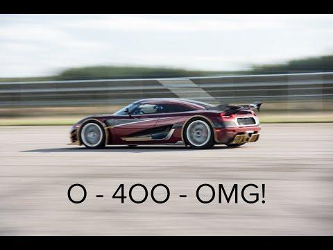0 - Koenigsegg stellt einen neuen 0-400-0-Rekord auf