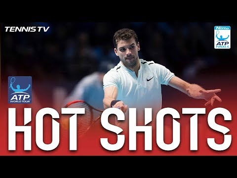 Hot Shot: Dimitrov Finishes Goffin Off With A Forehand Winner Nitto ATP Finals 2017 Round Robin