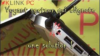 PC portable HP ne démarre plus voyant d'alimentation (charge) qui clignote une solution