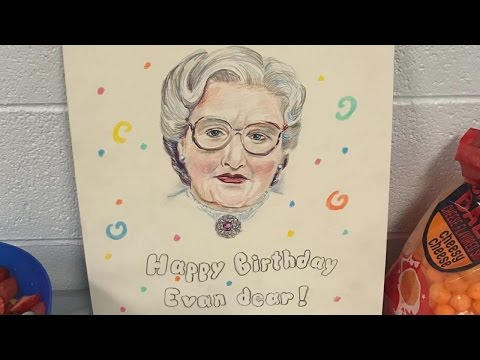 Thumbnail: Little Boy's 'Mrs. Doubtfire'-Themed Birthday Party Features Spectacular Cake
