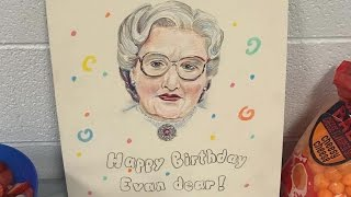 Little Boy's 'Mrs. Doubtfire'-Themed Birthday Party Features Spectacular Cake