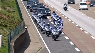 Top 10 Airlines - Queen Elizabeth II and Enormous Escort Entourage on a cleared Highway at Frankfurt
