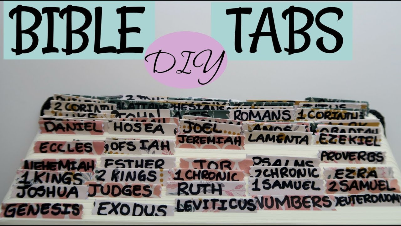 graphic about Free Printable Bible Tabs referred to as Do-it-yourself Bible Tabs