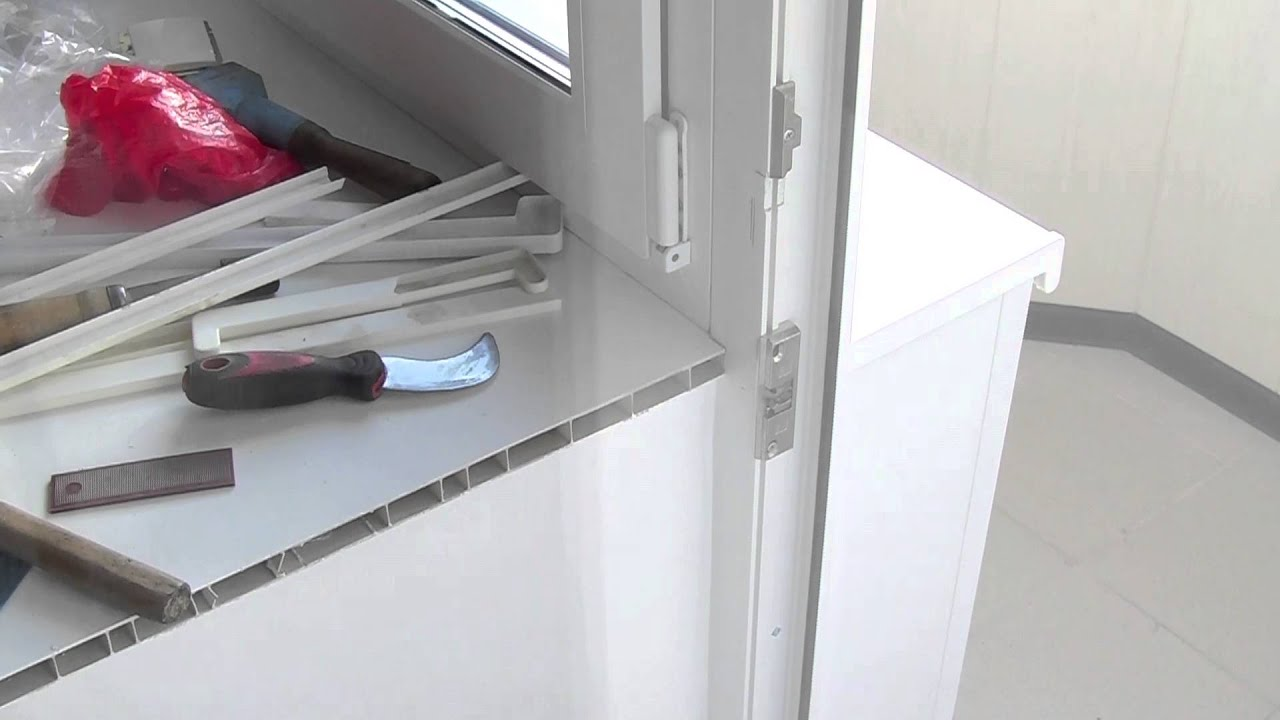 Установка балконной защелки и зацепа clipjoy italia.