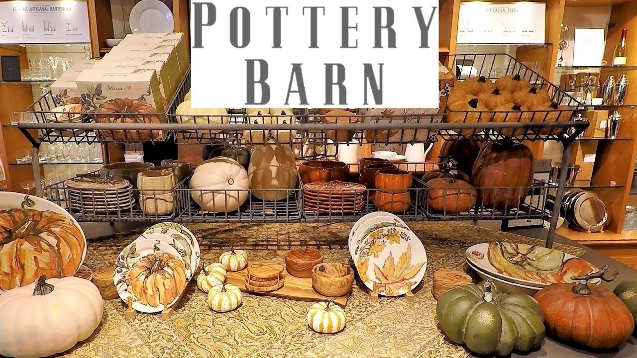 POTTERY BARN FALL DECOR - HALLOWEEN DECORATIONS THANKSGIVING SHOPPING HOME  DECOR 2018
