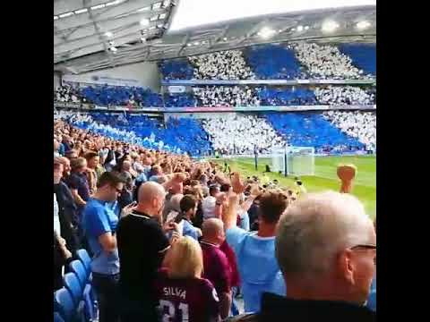 Manchester City Fans Taking Over The Amex Stadium Vs Brighton Away