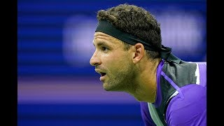 Grigor Dimitrov, forehand (US Open, slow motion)