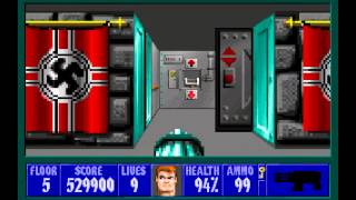 Wolfenstein 3D (id Software) (1992) Episode 1 - Escape From Castle Wolfenstein (Complete) [HD]