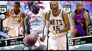 THE MOST ATHLETIC DUO IN NBA HISTORY! DIAMOND VINCE CARTER & TRACY MCGRADY! NBA 2K17 MYTEAM GAMEPLAY