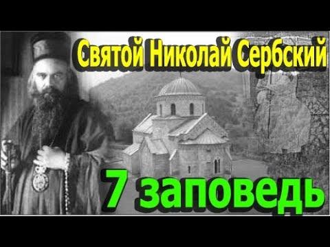Святой Николай Сербский. Седьмая Заповедь. Объяснение 10 Заповедей.