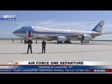 WHEELS UP: Air Force One Departs For Louisville, KY
