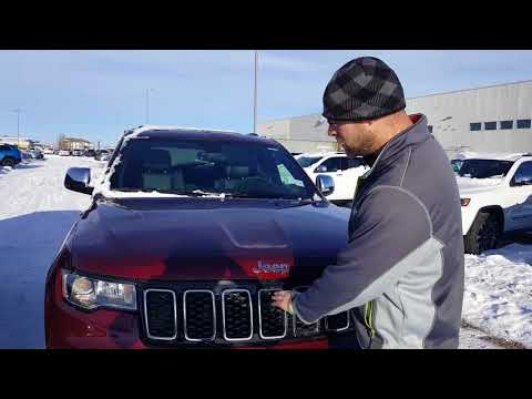 Where is the block heater cord for my 2018 Jeep Grand Cherokee SRT/Limited?