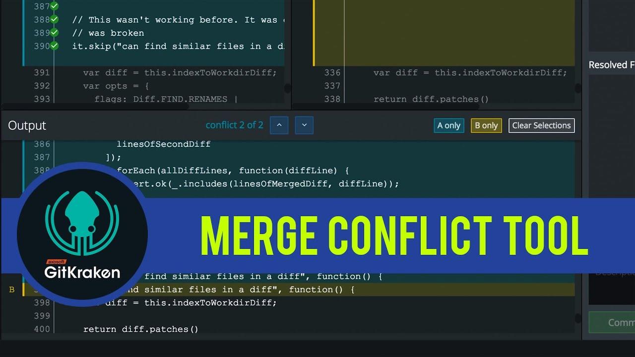 GitKraken Tutorial: Merge Conflict Tool