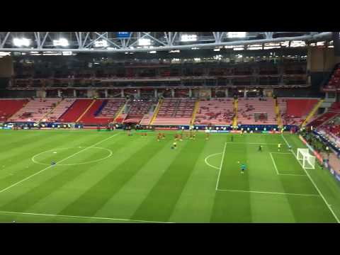 Entering Spartak Stadium, Moscow, Confederation's Cup 2017