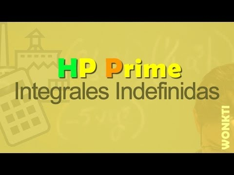HP Prime, Referencia: Integral Indefinida