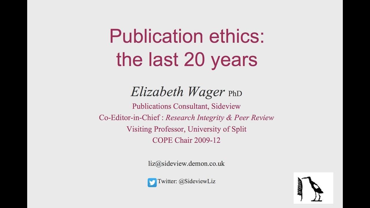 1‐5‐7 出版規範委員会(COPE) | 白楽の研究者倫理