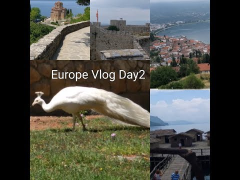 Europe Vlog Day2 || Macedonia || Monastery ||ohrid fortress||Bay of Bones Museum||LookbeautifulNancy