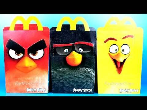 2018 ANGRY BIRDS McDONALDS HAPPY MEAL TOYS...