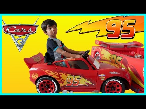 Disney Cars Toys Surprise Toys Lightning McQueen Ride On Car Playtime Park Playground Fun Family Fun