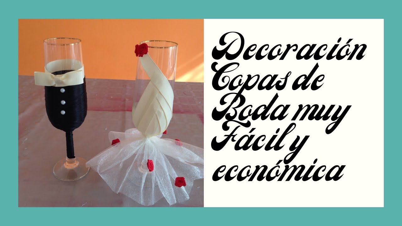 copas de bodas decoracin economica y fcil economical and easy decoration for wedding cups youtube