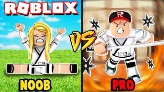 NOOB VS PRO NINJA W ROBLOX! (Roblox Ninja Legends) | Vito vs Bella