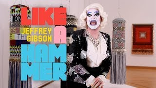 "Drag Clown Carla Rossi visits ""Jeffrey Gibson: Like a Hammer"" at Seattle Art Museum"