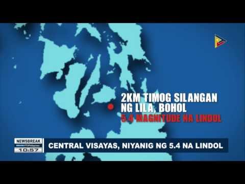 NEWS BREAK: Central Visayas, niyanig ng 5.4 na lindol